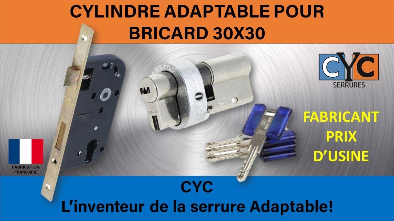 serrure BRICARD adaptée en clé CYC REF BRICYC CYL.EURO BRIDER AU ...