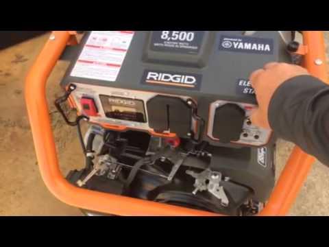 Yamaha inverter generator noise level vs regular for Ridgid 6800 watt generator with yamaha engine