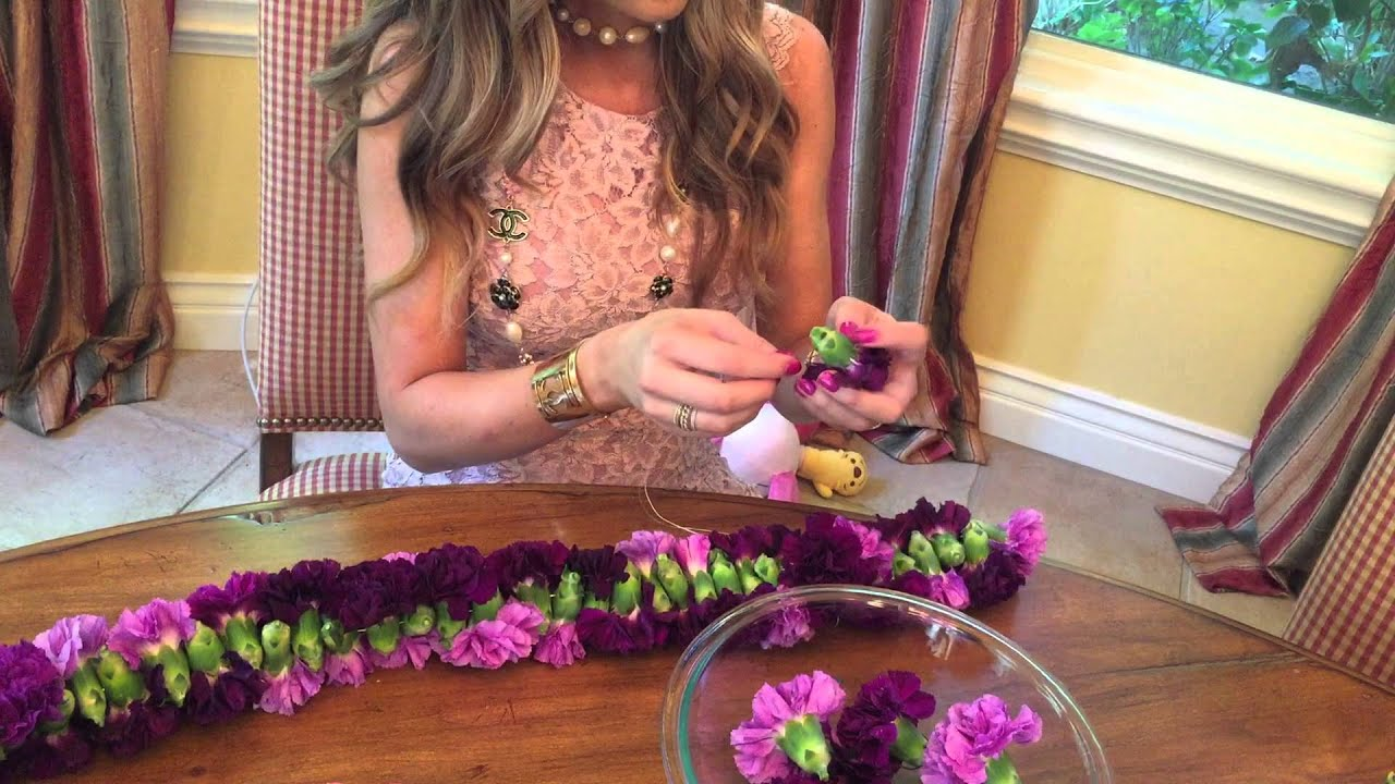 How 2 make a flower lei by how2girl youtube izmirmasajfo