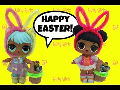 LOL Surprise Dolls 🐰 EASTER SPECIAL 🐰 Custom Bunny Ears & Basket 🐰 Egg Hunt 🐰 Kinder Surprise