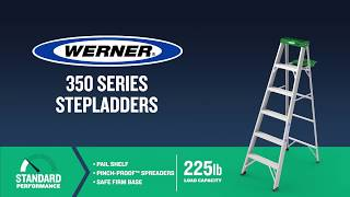 Werner Ladder - 350 Series Aluminum Step Ladders