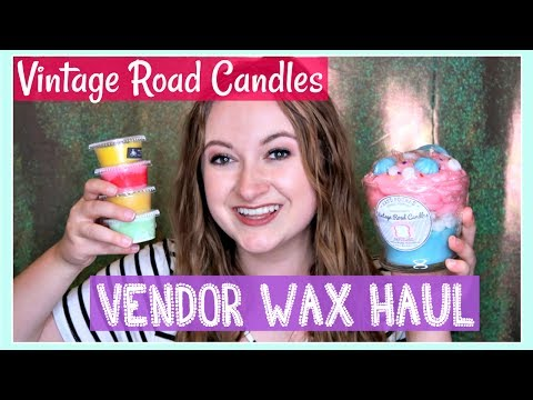 Vintage Road Candles Vendor Wax Unboxing Haul + First Impressions Reviews!