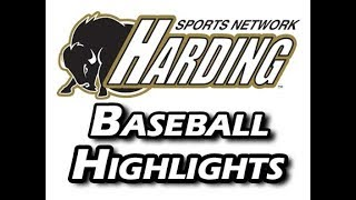 2018 Harding Baseball Highlights vs  Hendrix