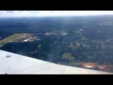 Landing in Mobile, Alabama Airport (MOB)