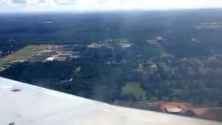 Landing in Mobile, Alabama Airport (MOB)