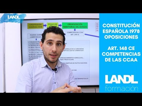 Esquema constitución española 1978 oposiciones competencias comunidades autónomas art. 148 ce