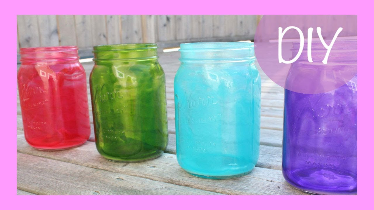 diy colored mason jars - youtube
