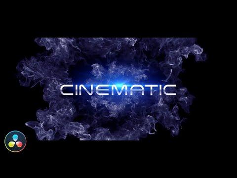 New Cinematic Title - DaVinci Resolve Tutorial - No Plugins