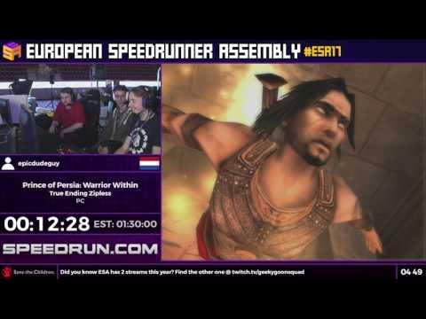 #ESA17 Speedruns - Prince of Persia: Warrior Within [True Ending Zipless] by epicdudeguy
