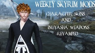 Weekly Skyrim Mods: Character Race Skins, Inuyasha Weapons Revamp