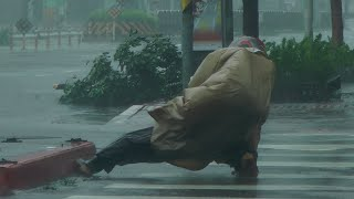Super Typhoon Soudelor hit Taiwan