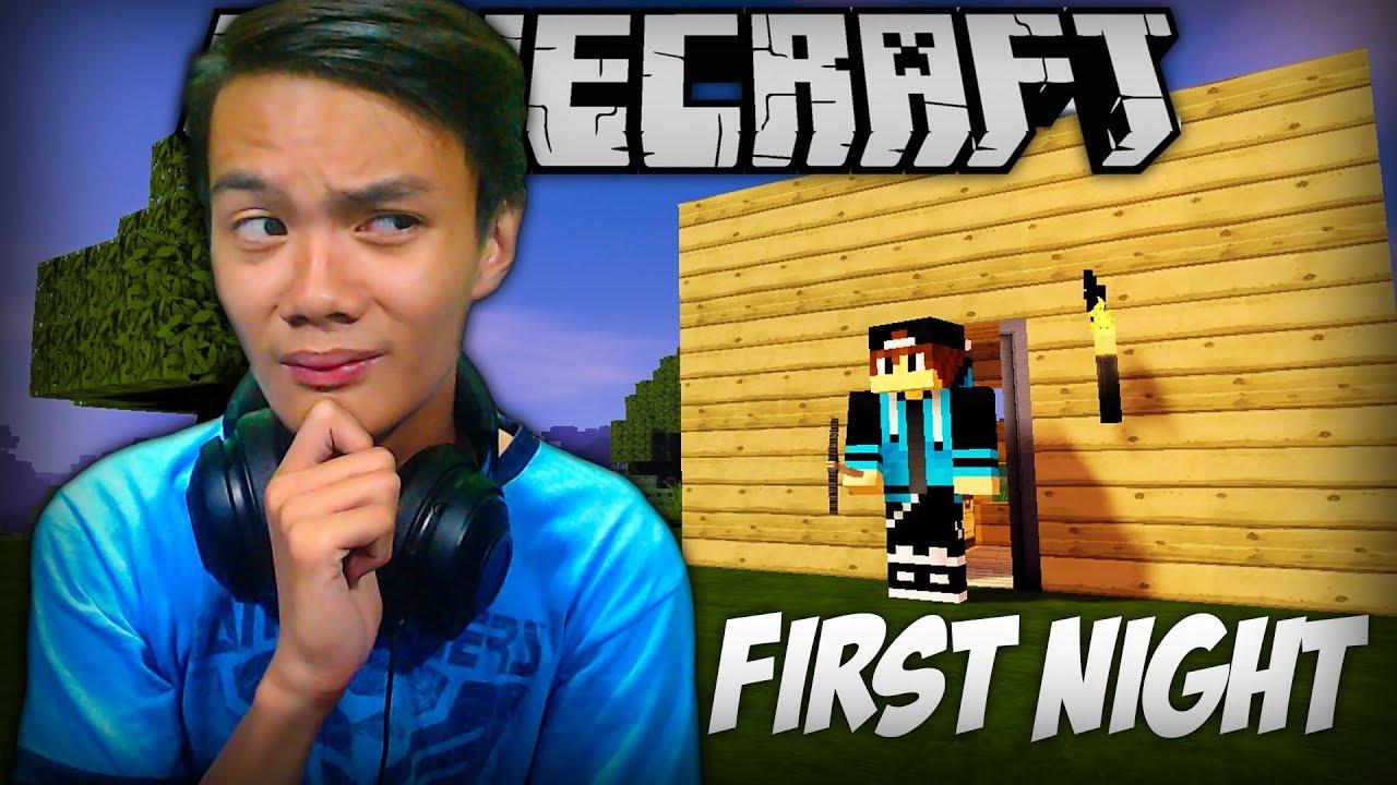 Unang Gabi! | Minecraft (Survival) - Part 1