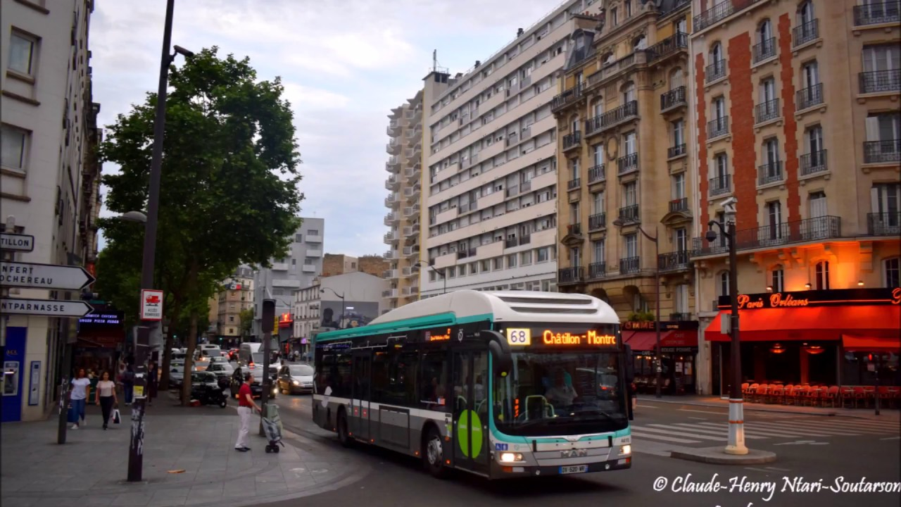La ligne de bus ratp 68 place de clichy ch tillon for Garage chatillon montrouge