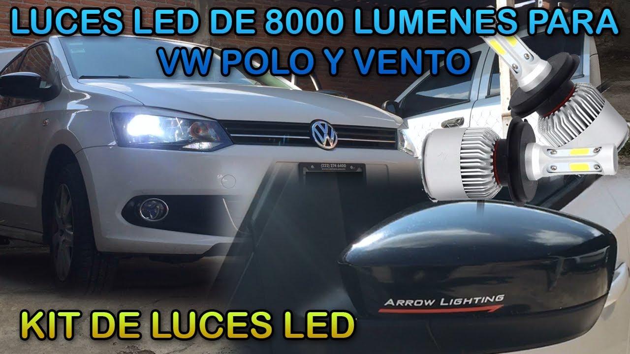 Instalar Luz LED en faros principales VENTO POLO 2017 YouTube