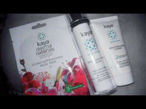 KAYA brightening Skin Care range review | with white lumines |kaya skin products for dull skin. from YouTube · Duration:  5 minutes 37 seconds