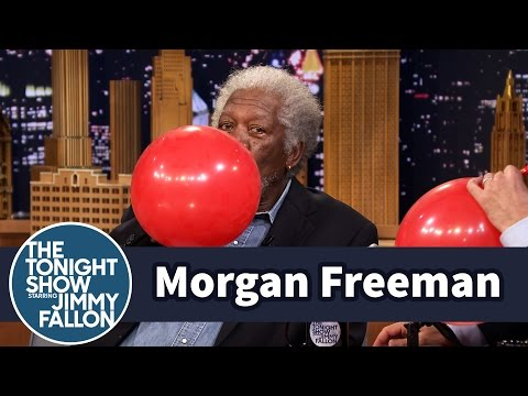 Man Freeman Chats with Jimmy While Sucking Helium