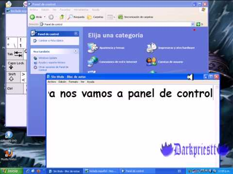 Como configurar tu teclado windows XP