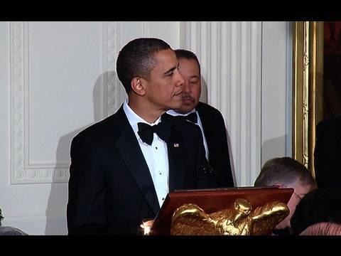 President Obama Toasts President Calderón of Mexico
