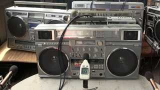 Stereo Test Sounds Boombox Woofer Showdown Comparison TOTL Conion JVC National Panasonic Victo