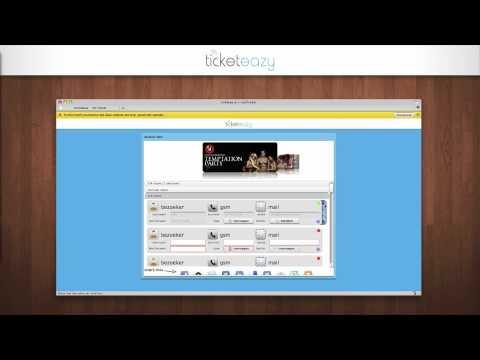 ticketeazy: flash & flex webdevelopment + online ticketing system