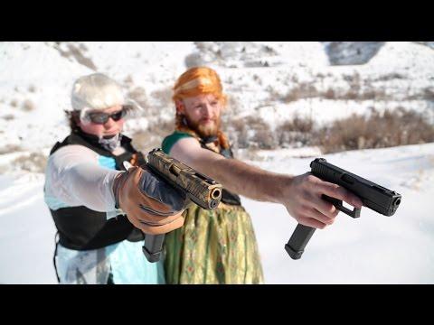 Frozen Parody W/ Machine Guns // Do You Want To Shoot A Snowman?