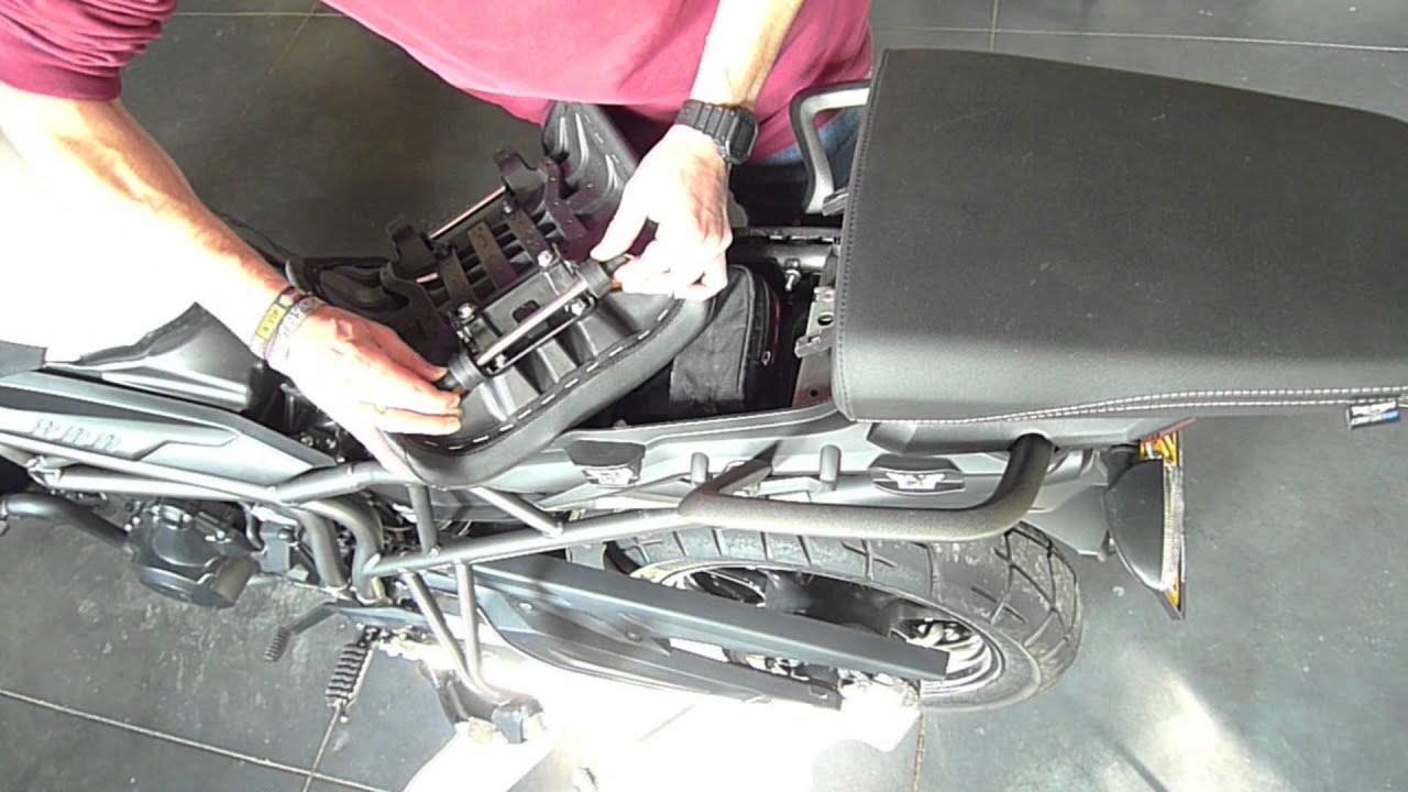 Triumph Tiger 800 >> How to change the seat height of the Triumph Tiger 800 - YouTube
