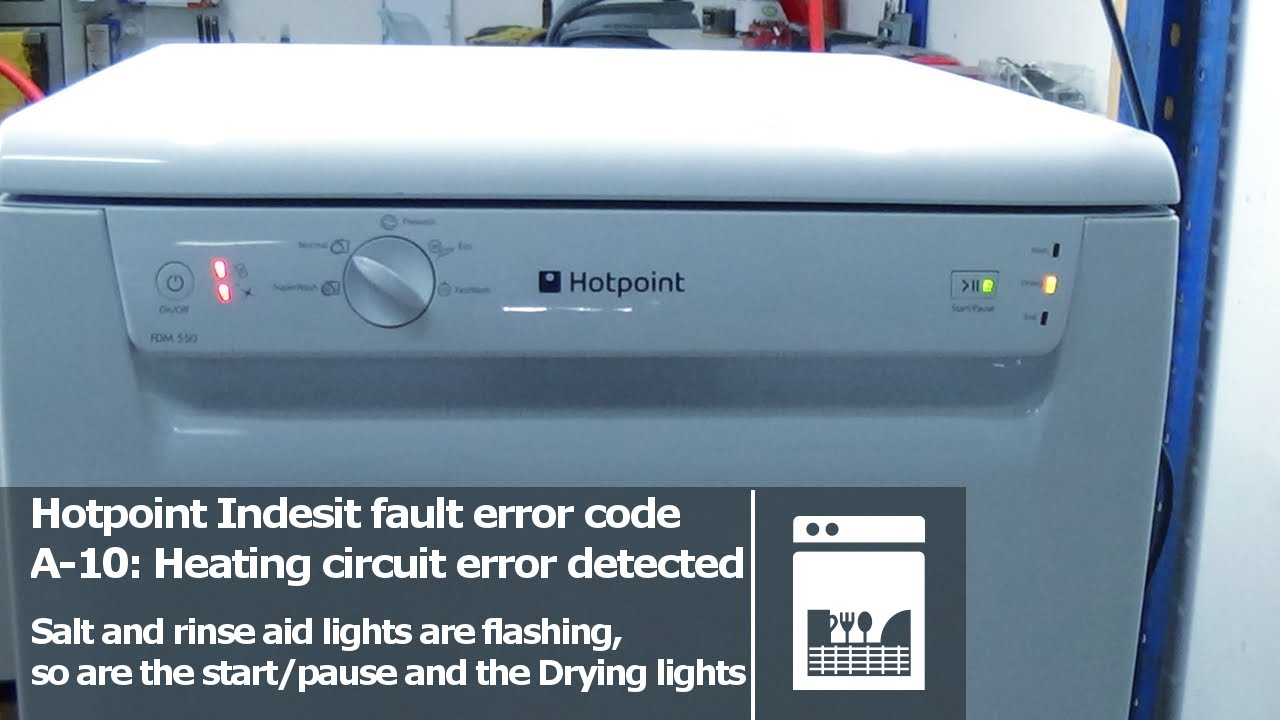 Hotpoint Indesit Dishwasher Flashing Lights Fault Error Codes A 10 Wiring Diagram 120 Volt Light