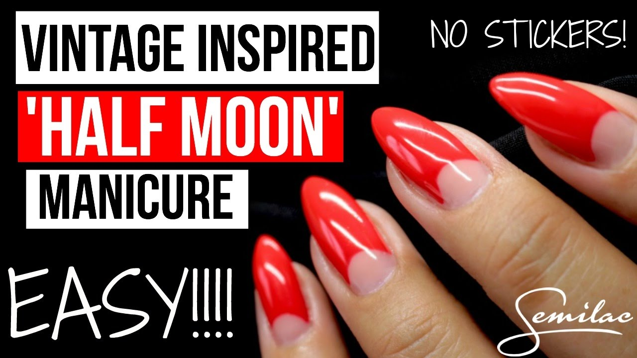 how to  easy vintage inspired  u0026quot half moon u0026 39  manicure