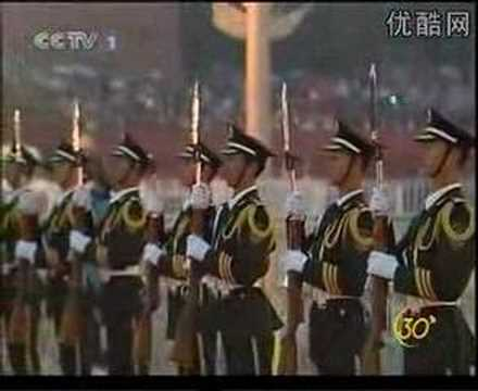 China Military Power in Tiananmen 1000000 people view rise n