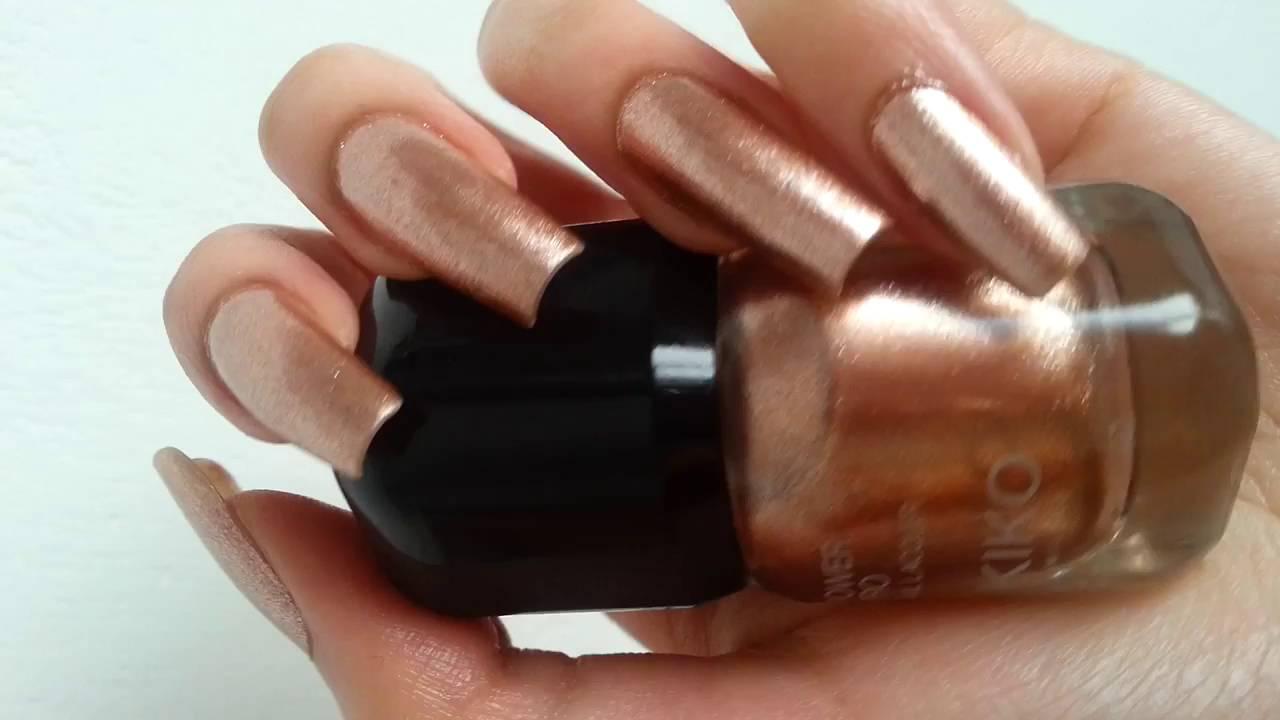 New Kiko Pro Nail Lacquer On Natural Nails By Michela Video 2