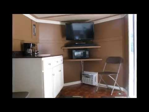 Mini Man Cave Locations : Cargo mini man cave trailer conversion youtube
