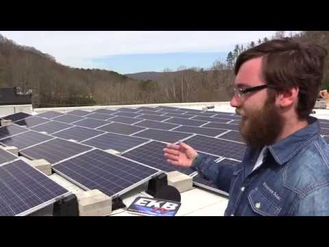 Solar panels installed on coal mining museum