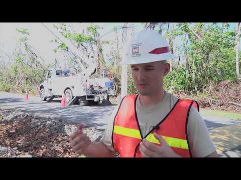 US Military Helps Repair Power Lines in Rio Grande, Puerto Rico