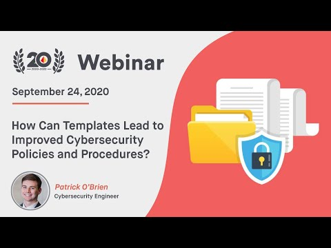 How Can Templates Lead To Improved Cybersecurity Policies And Procedures?