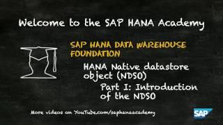 SAP HANA Academy - DWF: NDSO - Introduction to HANA native datastore objects I [2.0 SPS 00]