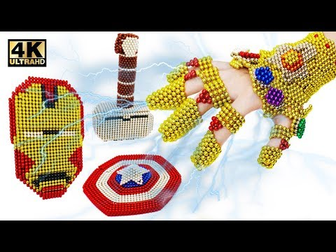 How To Make Avengers Equipment and Thanos Infinity Gauntlet From Magnetic Balls (Satisfaction) | 4K