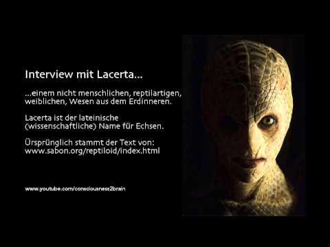 Interview mit Lacerta, einen reptilartigen, weiblichen Wesen aus dem Erdinneren
