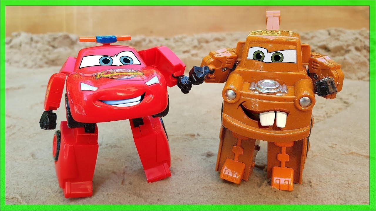 Cars Lightning Mcqueen Transformers Robot Toy Kids Toys