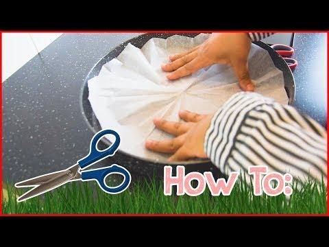 1. DIY: Cut Parchment Paper Circle
