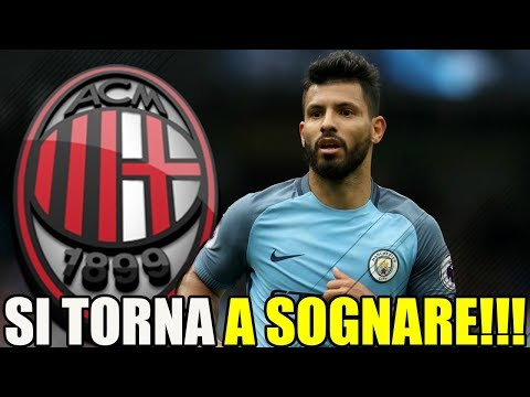AGUERO AL MILAN??? 😍 SI TORNA A SOGNARE!!! [CALCIOMERCATO MILAN]