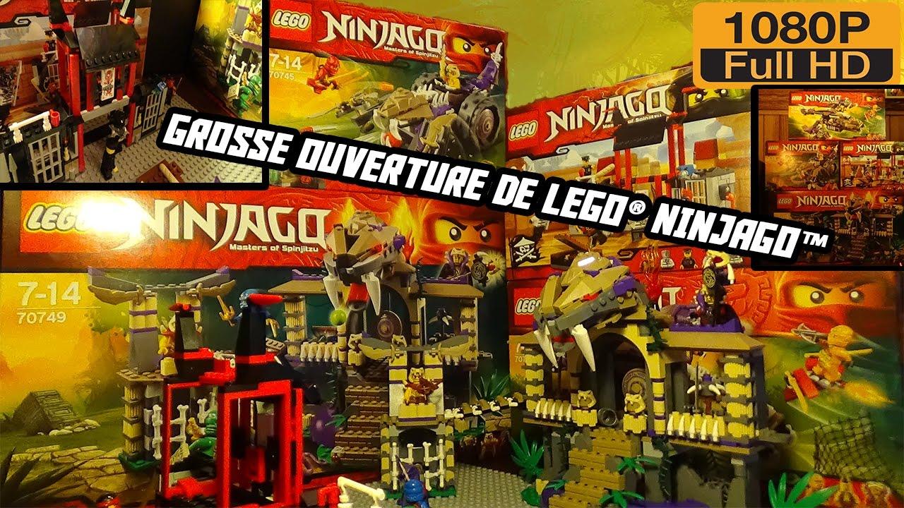 grosse ouverture de lego ninjago hd