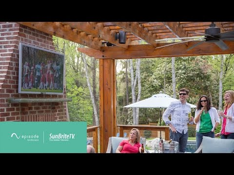 Outdoor Entertainment with Episode Landscape Speakers & SunBriteTV