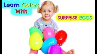 Learn Colors With SURPRISE EGGS - Shopkins, Grossery Gang, Masha and the Bear and more