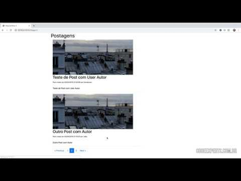 Vídeo no Youtube: Symfony 4 - Bootstrap 4 na Paginação