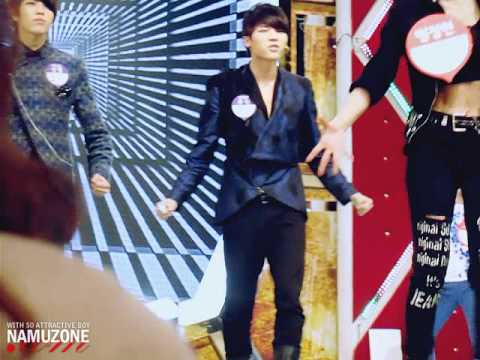Woohyun dancing to 2PM's I'll Be Back