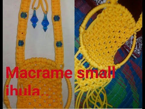 How to make small taddy jhula macrame at home very for How to make jhula at home