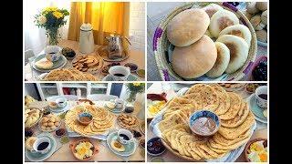 حنة يد المغربيات !!! وجبة إفطار مغربية : ملاوي رغايف و خبز أشكال و أنواع !!