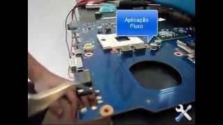 Troca conector carregador jack dc notebook Repair
