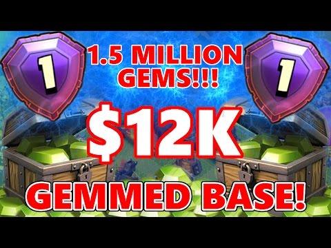 LEGEND LEAGUE $12K GEMMED BASE! 1.5 MILLION GEMS SPENT!   Clash Of Clans