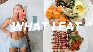 vlog: what I eat in a day + new workout clothes